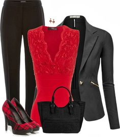 Get Inspired by Fashion: Elegant Outfits | Cute in Red Flats