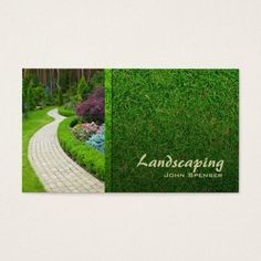 Professional lawn care landscaping business card landscaping make a terrific first impression with this landscaping lawn care gardener business card customise this design as your own just in minutes colourmoves