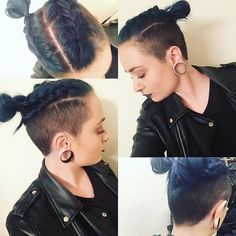 #undercut #undercutgirl #undershave #360undercut #braidedhair #girlbun #frenchbraid