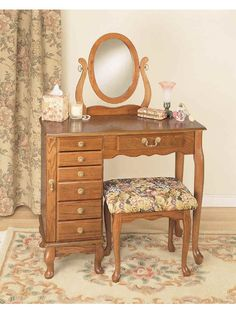Image Result For Rustic Vanity Table  Bring a touch of elegant charm to any room in your home with this lovely Wood  Makeup Vanity Set with Mirror. The scrolling side  Simplified down to its basic  elements, this streamlined vanity set is an excellent addition to your master  bedroom. . This...