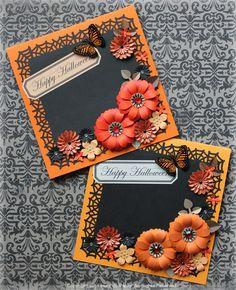 $Fleurs de Papier ~クラフトパンチや花紙で作る立体のお花いろいろ~-クラフトパンチでハロウィンカード
