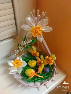Egg Crafts, Easter Crafts, Diy And Crafts, Floating Tea Cup, Place Mats Quilted, Ribbon Work, Easter Wreaths, Paper Quilling, Diy Wreath