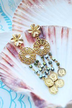 Orecchini cristallo/orecchini boho/orecchini etnici/orecchini bohemian/orecchini pendenti/gioielli boho/regalo compleanno/regalo per lei di VeniceStyle su Etsy