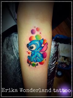Colore... Stitch tattoo...