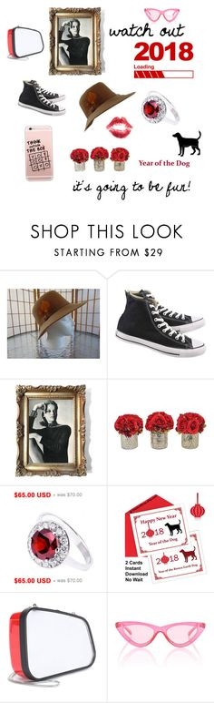 """""""watch out 2018"""" by seasidecollectibles ❤ liked on Polyvore featuring Nique, Converse, The French Bee, Balenciaga, Le Specs and vintage"""