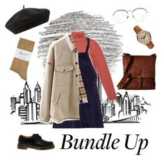 """""""Bundle Up"""" by elanorbrooke on Polyvore featuring Dr. Martens, Barbour, Chicnova Fashion, Johnstons, FOSSIL, Linda Farrow, Accessorize and Frye"""