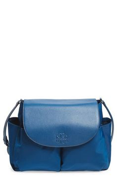 f8543338b9ac Tory Burch  Thea  Messenger Leather   Nylon Baby Bag