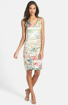 Nicole Miller Print Metallic Techno Sheath Dress available at #Nordstrom