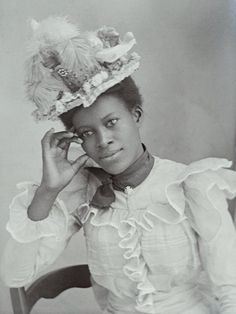 +~+~ Antique Photograph ~+~+   Beautiful portrait of an unknown African American Woman.  Her information may have been lost somewhere along the way but her grace has not.