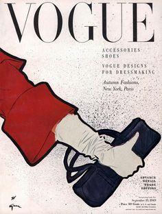 René Gruau a Travaillé pour les Plus Grands Noms de la Couture, Balmain, Balenciaga, Givenchy, Rochas ... (167 Marques), tout en Continuant les Dessins de Mode pour les Magazines Elle, Vogue (1949), Madame Figaro, L'officiel de la Couture, Marie Claire ....