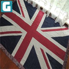 Thicker Bed Blanket: Super Soft Warm Air Conditioning Throw Blanket for Bedroom Living Rooms Sofa (Vintage UK Flag) Sofa Factory, Living Room Sofa, Living Rooms, Uk Flag, Vintage Sofa, Sofa Throw, Flag Decor, Blanket, Rugs