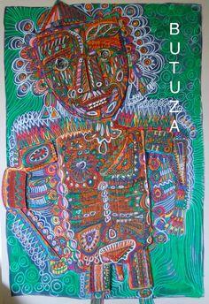 Painted by Cath Butuza #outsiderart #artbrut #art #artist #artists #artistic #artwork #facesart #illustration #illustrationart #acrylic #painting #drawing #sketches