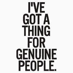 For Genuine People