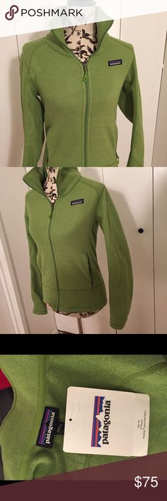 Patagonia Women's Emmilen Jacket Green Size Small The Patagonia Women's Emmilen Jacket is a lightweight fleece jacket made of 100% polyester heathered fleece with hand warmer pockets and a tall collar.  FEATURES OF THE PATAGONIA WOMEN'S EMMILEN JACKET  A lightweight heathered-fleece jacket with center-front zipper Tall double-layer collar Modern style lines, a wide waistband, and flat stitched princess seams on front and back Zippered handwarmer pockets Hip length Patagonia Jackets & Coats