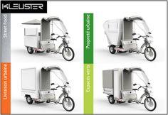 Freegônes, un triporteur dédié aux professionnels de la propreté urbaine, de l'entretien des espaces verts, de la vente ambulante et de la livraison urbaine.