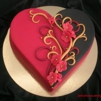 Valentine.... Could this base work with cheesecake? Then you could pattern and freeze chocolate for the swirls.