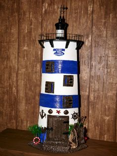 Tejas decoradas en relieve: Faro Pallet Board Signs, Recycled Jars, Ceramic Houses, Vintage Nautical, Roof Tiles, Biscuit, Tile Art, Lighthouse, Decoupage