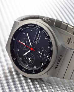 Re-issued Porsche Design chronograph, once upon a time there were PD by Eterna and IWC.