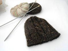 Alpaca wool knit hat Knit beanie chocholate brown by cosediisa