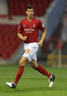 Daniel Ayala of Nottingham Forest in action during the Pre Season Friendly match between Nottingham Forest and West Bromwich Albion at City Ground on August 10, 2012 in Nottingham, England.