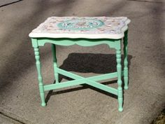Shabby mosiac table ~ I've been collecting broken china for years to do this!!!!
