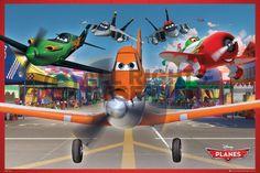 Poster: Disney's Planes - airport online te koop. Bestel je poster, je 3d filmposter of soortgelijk product Maxi Poster