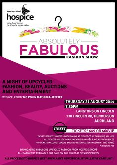 Poster & flyer for Charity Fashion Show on Behance