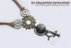 Travel through time and space  Necklace by thesugartoothdragon, $35.00