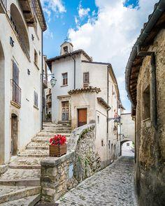 Abruzzo Photography Print, Barrea, L'Aquila, Italy, lake, mountains, Abruzzi, Italia, village, borgo, flowers, travel