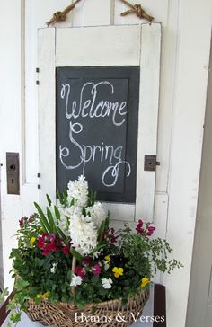 Hymns and Verses: Using an Old Door as a Photo Prop