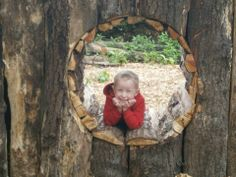 Joshua settles in for the afternoon in Wolf's Den natural play area