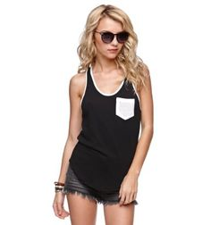 Amazon.com: Nollie Womens Pocket Racerback Tank: Clothing