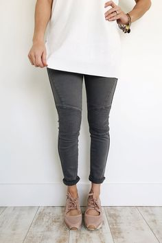 moto skinnies in charcoal | ROOLEE