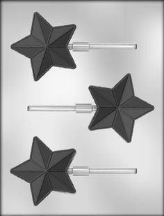 CK Products 3-Inch Star with Lines Sucker Chocolate Mold -- Don't get left behind, see this great product offer