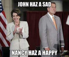 John haz a sad, Nancy haz a happy