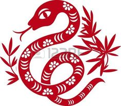 Chinese paper cut out snake as symbol of year 2013 photo