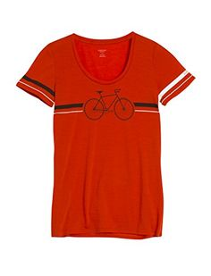 15f7d484ae Icebreaker Womens Tech Lite Short Sleeve Scoop Fixie Tee Molten Small    Check out this great