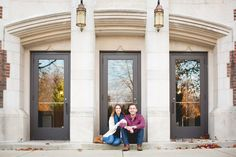 Laurenda Marie Photography | Couples | Engaged | Fall | Campus | CMU | Lifestyle photography | couples pose | building | Fall color