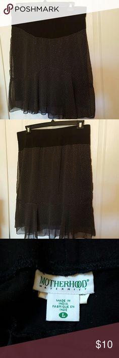 Maternity skirt Chiffon over cotton spandex lining Motherhood Maternity Skirts Midi