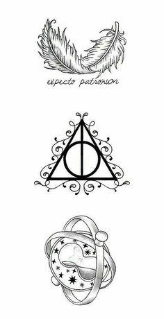 Ideas for tattoo harry potter hogwarts fan art Harry Potter Tattoos, Harry Potter Symbols, Images Harry Potter, Harry Potter Love, Harry Potter World, Harry Potter Kunst, Harry Potter Sketch, Harry Potter Drawings, Hogwarts