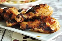 Simple Caribbean Jerk Chicken - I like jerk chicken but often don't have all the exotic ingredients. This simplifies the mix by using dry Italian dressing. Yummy on the Grill! Best Grilled Chicken Recipe, Grilled Chicken Thighs, Grilled Pork Chops, Garlic Chicken, Bbq Chicken, Chicken Legs, Chicken Breasts, Chicken Bombs, Grilled Wings