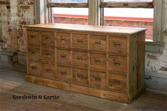 Country Store Seed Bin Cabinet: