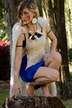 NEW Handmade San Princess Mononoke Cosplay Dress
