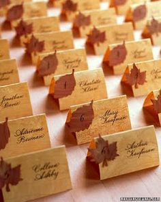 Fall:  Name card could do different flower shapes for spring