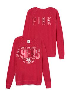 San Francisco 49ers Boyfriend Crew. For her, she loves the boyfriend sweaters but hates my team lmao