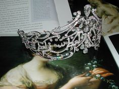 the Arabic Scroll tiara contains over 1300 Diamonds