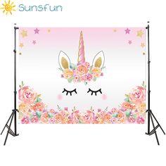 Promo Sunsfun 7x5FT Pink Unicorn Photography Backdrop Birthday Flower Banner Dessert Table Background Photobooth Photocall 220 x 150cm #Sunsfun #7x5FT #Pink #Unicorn #Photography #Backdrop #Birthday #Flower #Banner #Dessert #Table #Background #Photobooth #Photocall #150cm