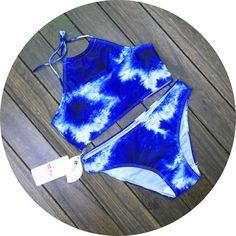 Fashion deep blue bikini