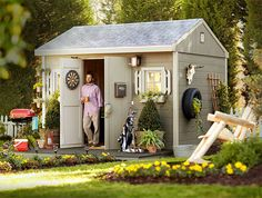 "Shed Renovation and Shed Organization Ideas at The Home Depot ""man shed"""