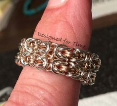 Beautiful chainmaille ring